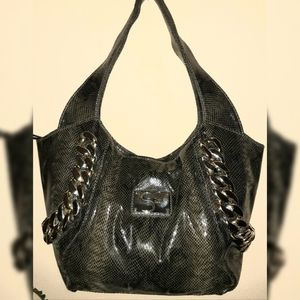 Serena William's Snake embossed Handbag